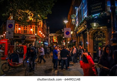 Nightlife on the streets of Soho London,UK-17.10 .2014