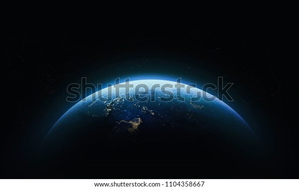 Nightly Earth Outer Space Abstract Wallpaper Stock Photo