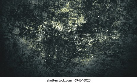 Nightmare horror abstract background. Grunge style with cracks and damage