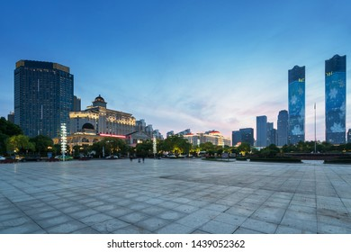 Nightscape of Modern City in China