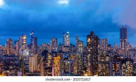 The night-scape of South Mumbai.