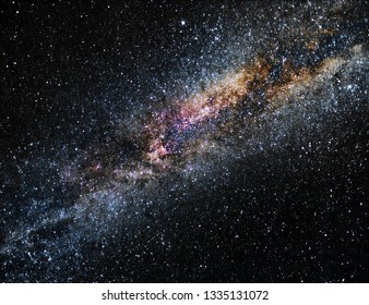 Nightscape with stars and Milky Way galaxy