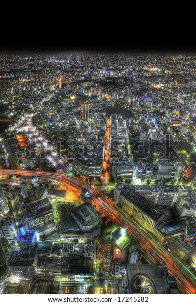 Nightscape from sunshine tower in Tokyo