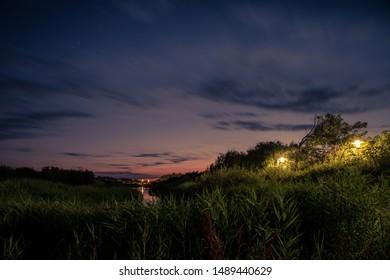 Nightscape at Zeeland (Netherlands, longexposure)