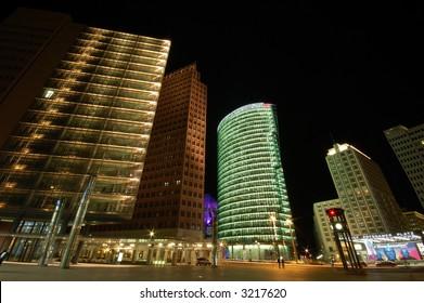 Nightscene at the Potsdamer Square in Berlin, Germany