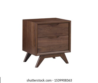The nightstand with 2 drawer isolated on the white background.