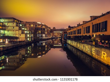Nighttime in Leipzig, Germany