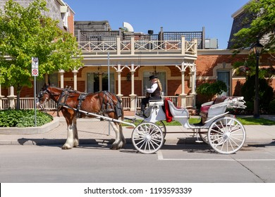 NIiagara on the lake, Ontario - June 14, 2018: The Historic Prince of Wales Hotel in Niagara On The Lake, Ontario, Canada is a three story hotel with 100 rooms and was built in 1864.