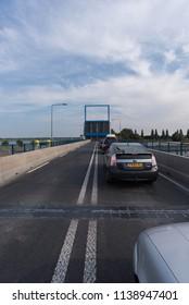 Nijkerk / Gelderland /Netherlands / 20 july 2018 / Open bridge 'Nijkerkerbrug'
