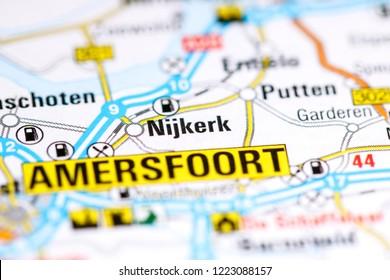 Nijkerk. Netherlands on a map