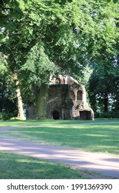 Nijmegen, Gelderland  Nederland  The Netherlands - 06.14.2021 Barbarossa ruin in Valkhof park. Sint Maartenskapel (St Martin's Chapel) is the last remaining ruins of the castle built by Charlemagne.