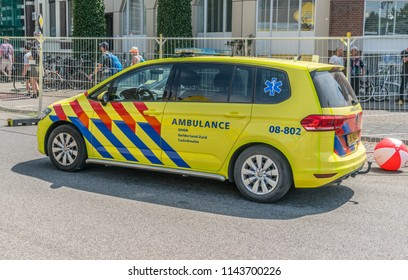Nijmegen, The Netherlands 19th July 2018 - Small ambulance just outside the Via Gladiola in Nijmegen