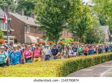 Nijmegen, The Netherlands 19th July 2018 - Walkers participating in the 4 day walking tournament in Nijmegen