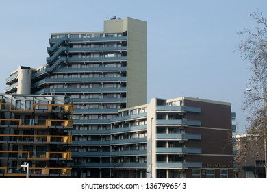 NIJMEGEN, THE NETHERLANDS, APRIL 6 2019, BUILDINGS IN NIJMEGEN