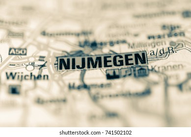 Nijmegen on map.