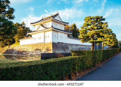 Nijo castle, Japanese old traditional architecture in Kyoto, Japan