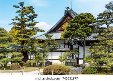 The Nijo Castle in kyoto a spring shoot
