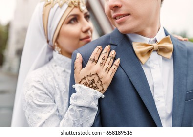 Nikah arabic Wedding Couple during the marriage ceremony