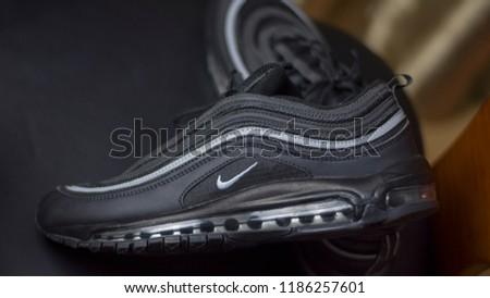 cheaper 54355 3072d Nike Air Max 97 Black silver
