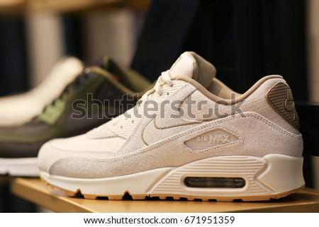 0bad5940 Nike Air Max Shoes Ukraine Kiev Stock Photo (Edit Now) 671951359 ...