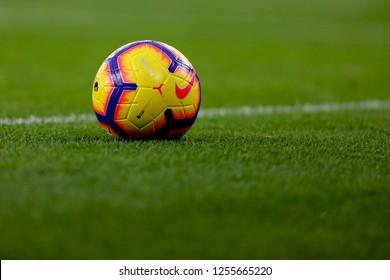 Nike Merlin Hi-Vis Winter MatchBall - Arsenal v Huddersfield Town, Premier League, Emirates Stadium, London (Holloway) - 8th December 2018