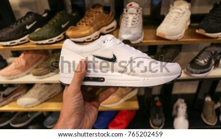 184a54d6 Nike Shoes Ukraine Kiev August 23 Stock Photo (Edit Now) 765202459 ...