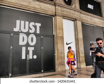 Nike sport brand showroom new opening soon in Turin Italy June 8 2019