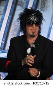 Nikki Sixx at the KISS & Motley Crue Press Conference, Roosevelt Hotel, Hollywood, CA 03-20-12