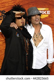 "Nikki Sixx and Tommy Lee at the Spike TV's 2nd Annual ""Guys Choice"" Awards held at the Sony Pictures Studios in Culver City, USA on May 30, 2008."