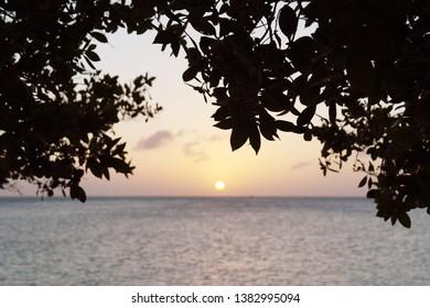 Nikki's beach sunset Oranjestad Aruba