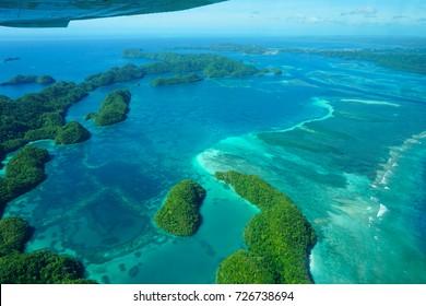Nikko Bay, Koror Palau - beautiful areal view, Best Kayaking, Beautiful Corals, Pacific Ocean , Micronesia