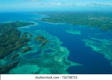 Nikko Bay, Koror Palau, beautiful areal view, Best Kayaking, Beautiful Corals, Pacific Ocean - Micronesia
