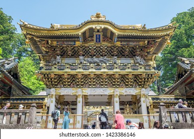 NIKKO / JAPAN - May 19 2019: Toshogu Shrine is the final resting place of Tokugawa Ieyasu, the founder of the Tokugawa Shogunate that ruled Japan for over 250 years until 1868.