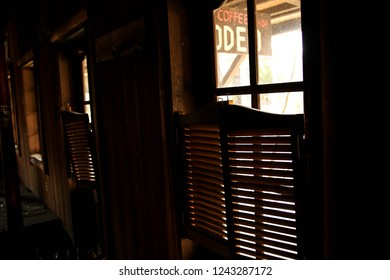 Nikko, Japan - November 2017: the Western Village, an abandoned amusement park. Forgotten restaurant