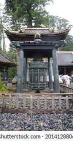 Nikko, Tochigi, Japan - October 2019 : Oranda doro or Dutch lantern at Nikko Tosho-gu shrine. Dutch lantern is gift from the Dutch East India Company presented to the shogun in 1643.