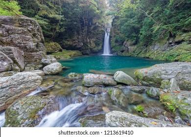 Nikofuchi waterfall, Kochi prefecture, japan
