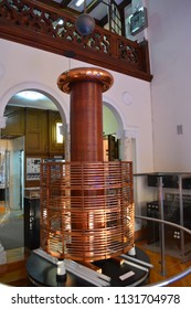 NIKOLA TESLA MUSEUM, BELGRADE, SERBIA - June 07 2014. Model of Tesla coil
