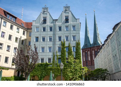 Nikolaiviertel in the city center of Berlin, Germany