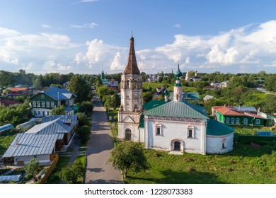 Nikolskaya Church with a bell tower in Suzdal, Russia