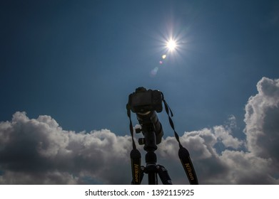 Nikon D5300 On Tripod At Amsterdam The Netherlands With Sunflare 2019