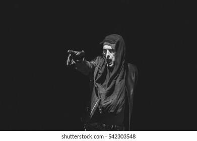Niksic, Montenegro - August 12th: Croatian rocker Goran Bare with a band Majke performing at Lake Fest 2016 on august 12th 2016 at Krupac lake, Niksic, Montenegro