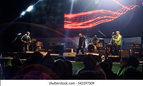 Niksic, Montenegro - August 13th: Punk band DST performing at Lake Fest 2016 on august 13th 2016 at Krupac lake, Niksic, Montenegro