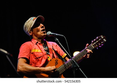 Niksic, Montenegro - August 14th: Manu Chao La Ventura performing at Lake Fest 2016 on august 14th 2016 at Krupac lake, Niksic, Montenegro