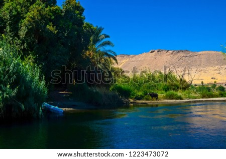 nile longest river world flows all stock photo edit now 1223473072
