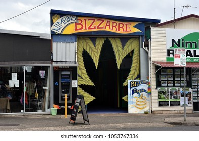 Nimbin, Australia - Dec 26, 2017. Nimbin is a lush hinterland town, hub for counterculture and alternative social activities, unique town in the Northern Rivers. Nimbin makes up the 'Rainbow Region'.