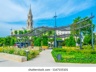 NIMES, FRANCE, JUNE 20, 2017: Church of Sainte Perpetue in Nimes, France