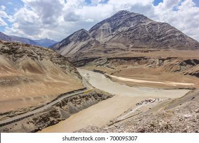 Nimu valley- Zanskar & Indus rivers merge