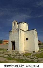 Nin, Croatia, The smallest cathedral in the world, church of the Holy cross in built in the 9th century.
