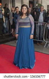 Nina Wadia arriving for the Asian Awards 2013, Grosvenor House Hotel, Park Lane, London. 16/04/2013 Picture by: Simon Burchell