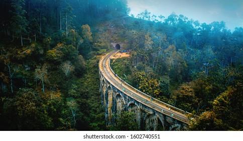 The Nine Arches Bridge is one of the iconic bridges in Sri Lanka